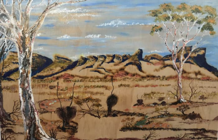 Kaarak Dreaming - Aboriginal Art on Plywood